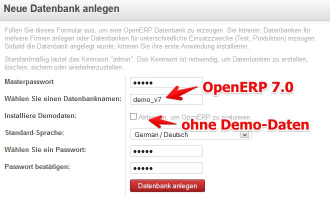 OpenERP7.0-Datenbank